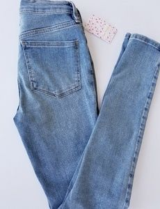 "Free People High Rise 10"" Skinny Jeans"